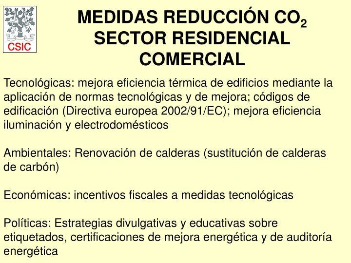 MEDIDAS REDUCCIÓN CO
