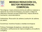 medidas reducci n co 2 sector residencial comercial