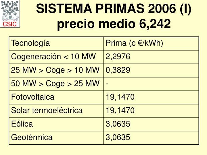 SISTEMA PRIMAS 2006 (I)