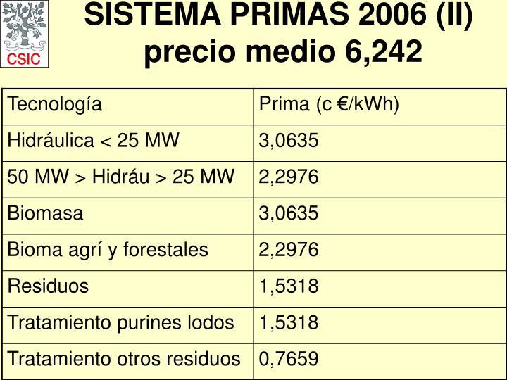SISTEMA PRIMAS 2006 (II)