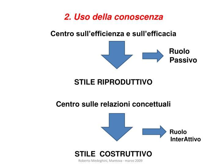 2. Uso della conoscenza
