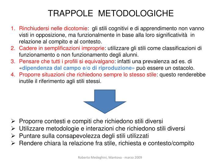 TRAPPOLE  METODOLOGICHE