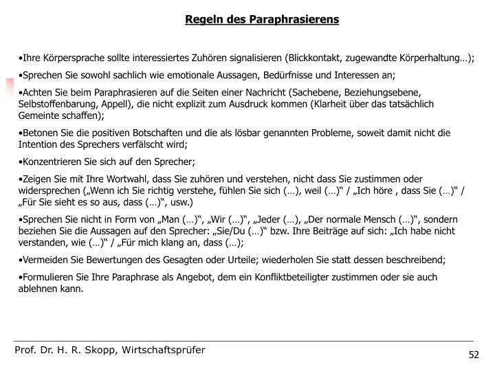 Regeln des Paraphrasierens