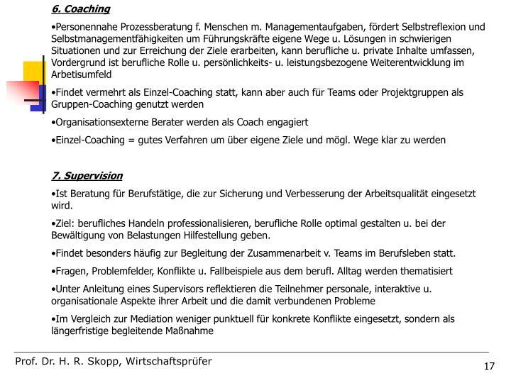 6. Coaching