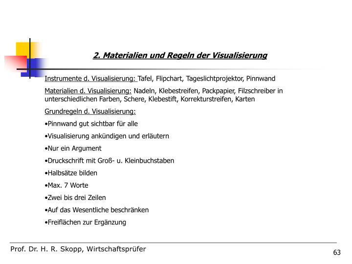 2. Materialien und Regeln der Visualisierung