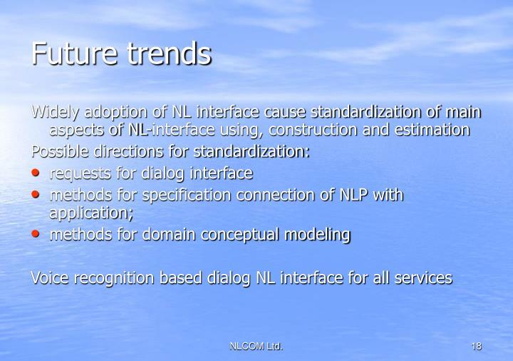 Future trends