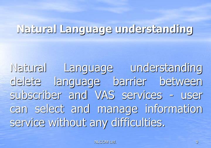 Natural Language understanding