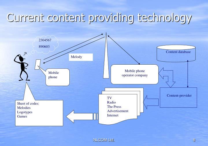 Current content providing technology