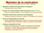 maintien de la motivation