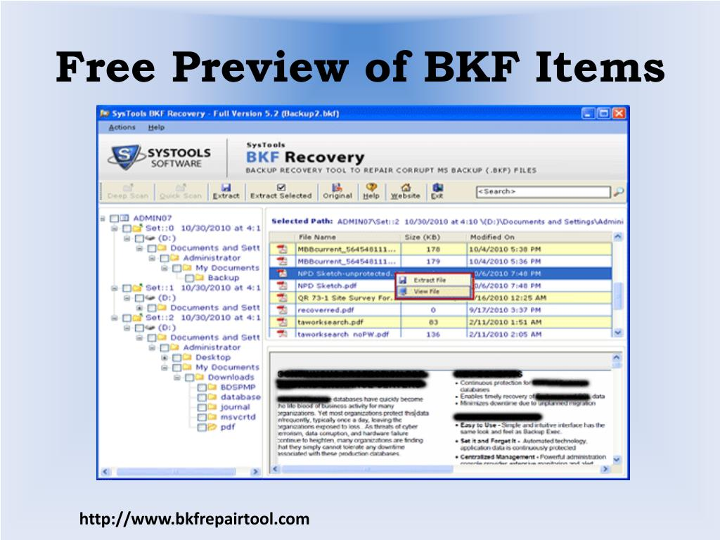 Free Preview of BKF Items