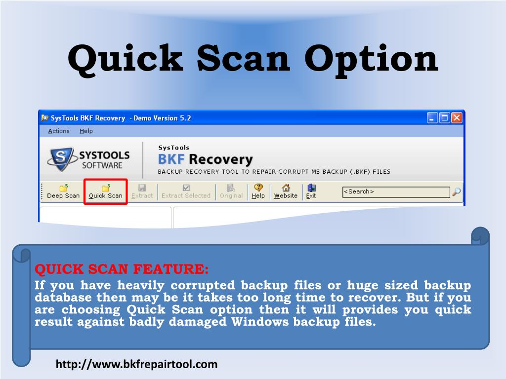 Quick Scan Option