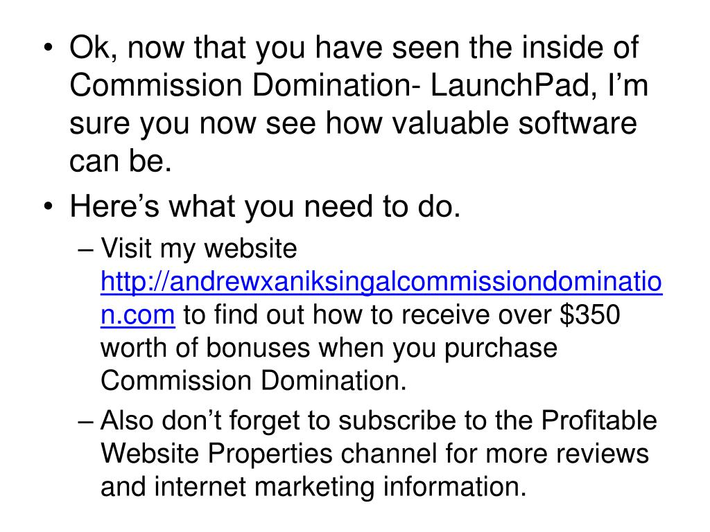 Ok, now that you have seen the inside of Commission Domination-