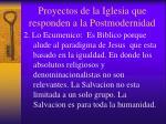 proyectos de la iglesia que responden a la postmodernidad1