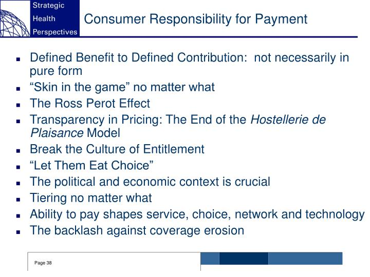 Consumer Responsibility for Payment