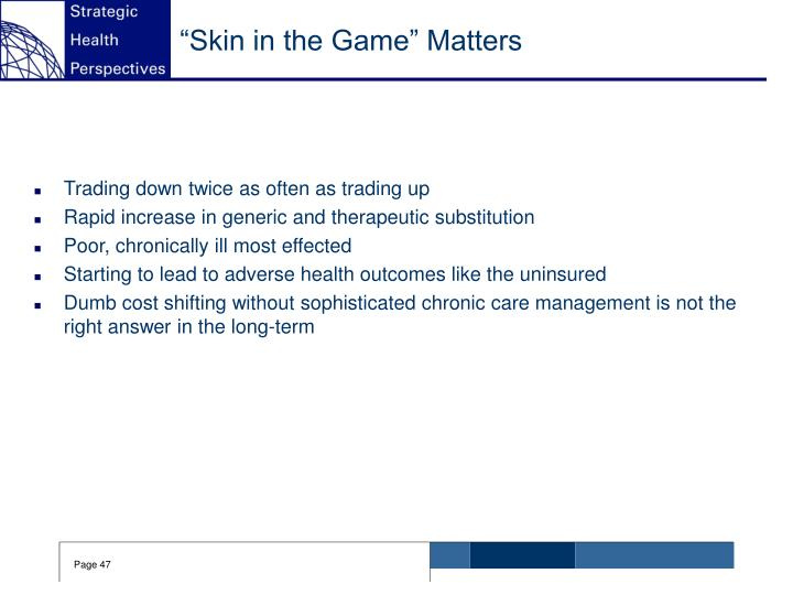 """Skin in the Game"" Matters"