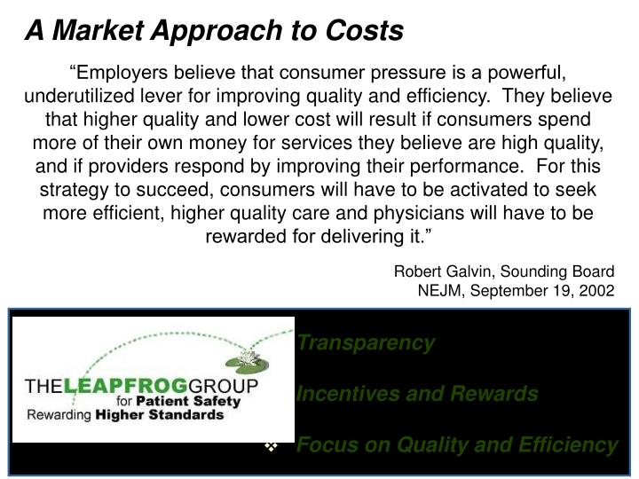 A Market Approach to Costs