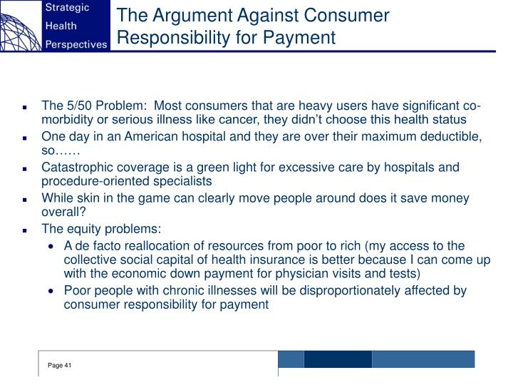 The Argument Against Consumer Responsibility for Payment
