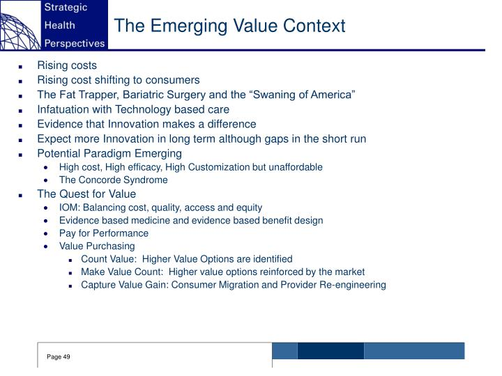 The Emerging Value Context