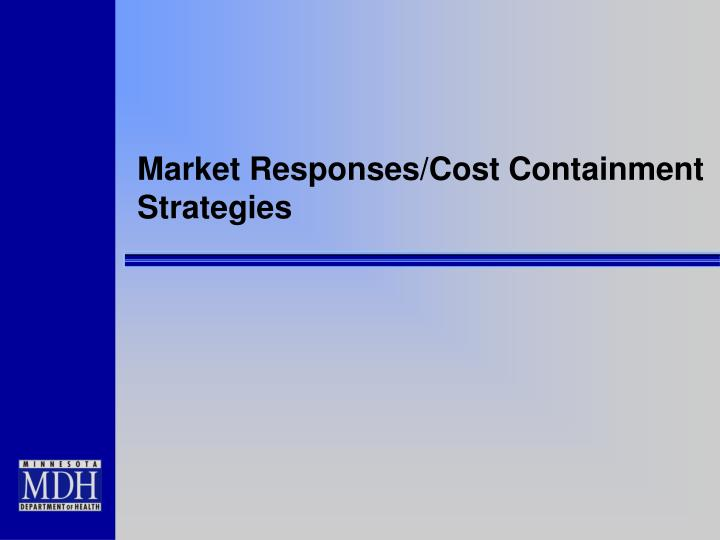 Market Responses/Cost Containment Strategies