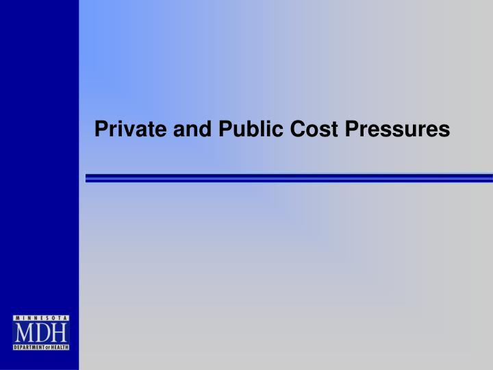 Private and Public Cost Pressures