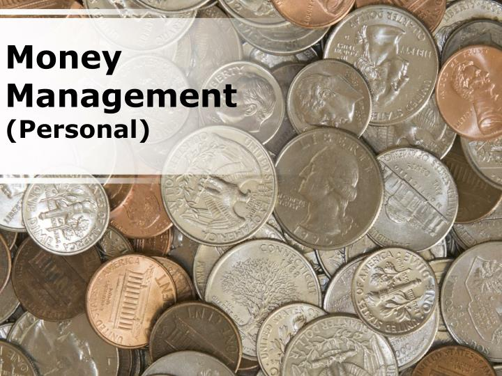 Money management personal