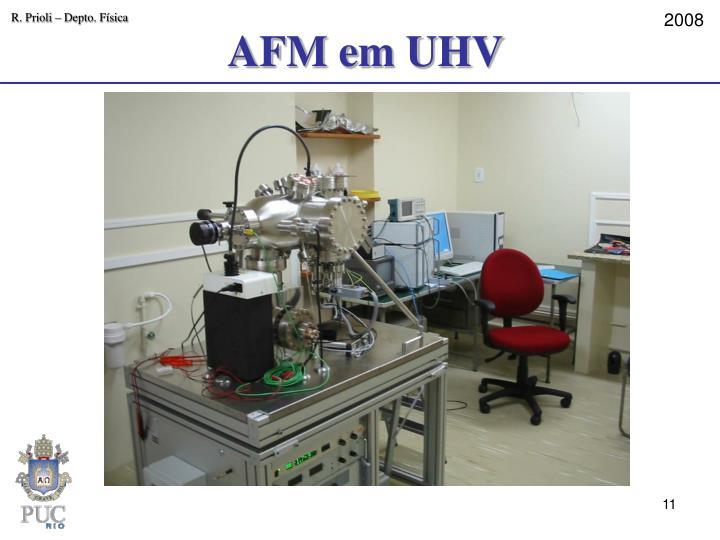 AFM em UHV