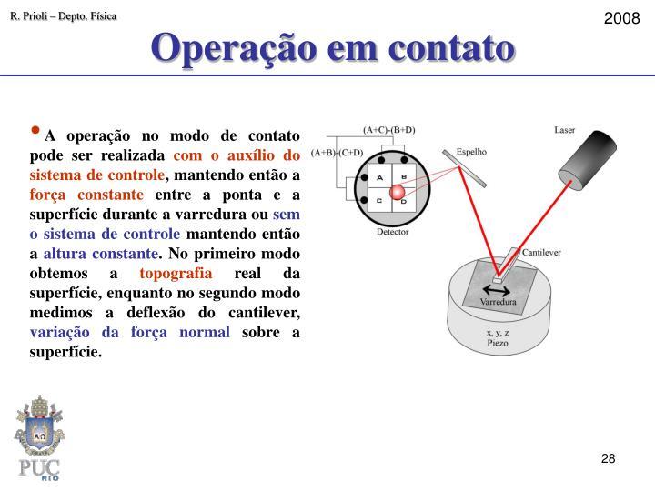 Operação em contato