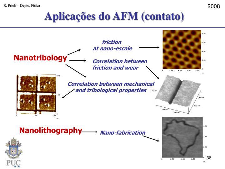 Aplicações do AFM (contato)