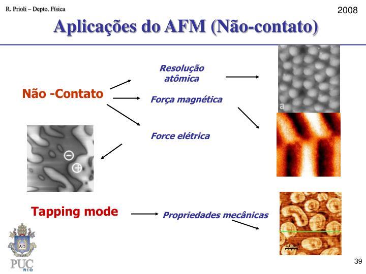 Aplicações do AFM (Não-contato)