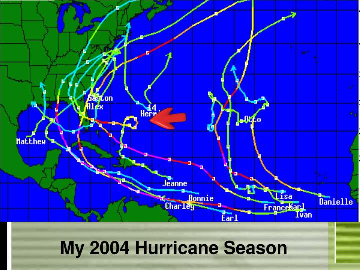 My 2004 hurricane season