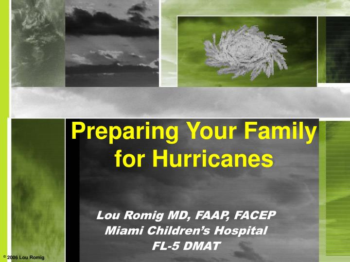 Preparing your family for hurricanes
