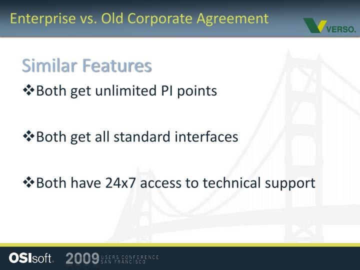 Enterprise vs. Old Corporate Agreement