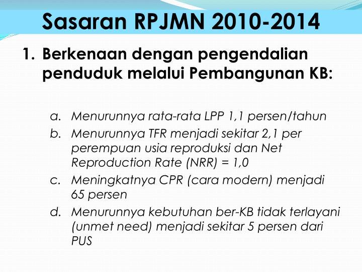 Sasaran RPJMN 2010-2014