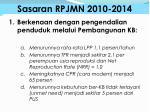 sasaran rpjmn 2010 2014