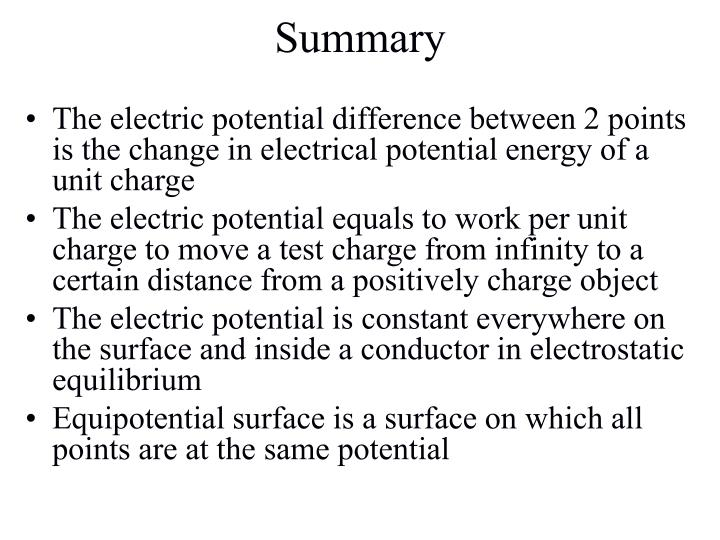 The electric potential difference between 2 points is the change in electrical potential energy of a unit charge