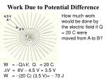 work due to potential difference