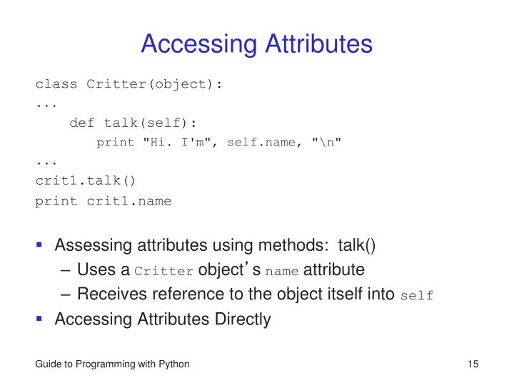Accessing Attributes