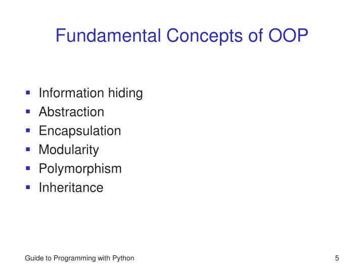 Fundamental Concepts of OOP