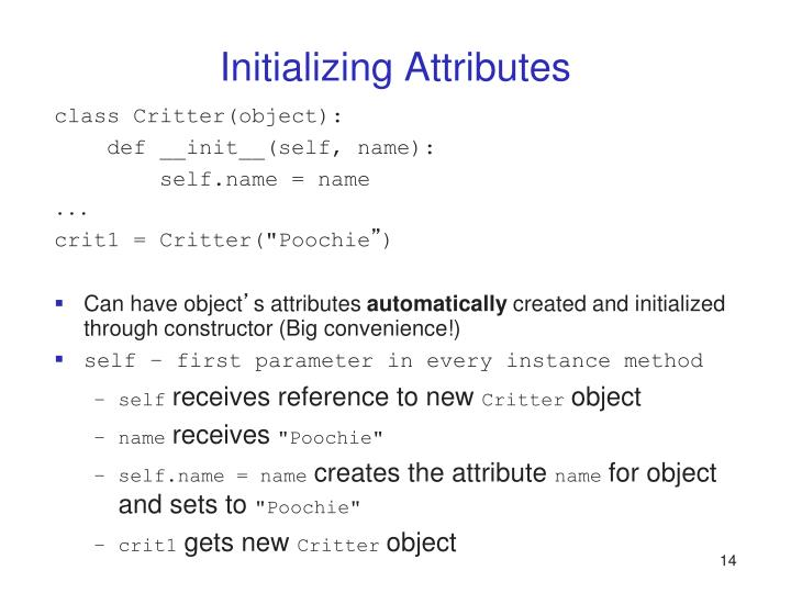 Initializing Attributes