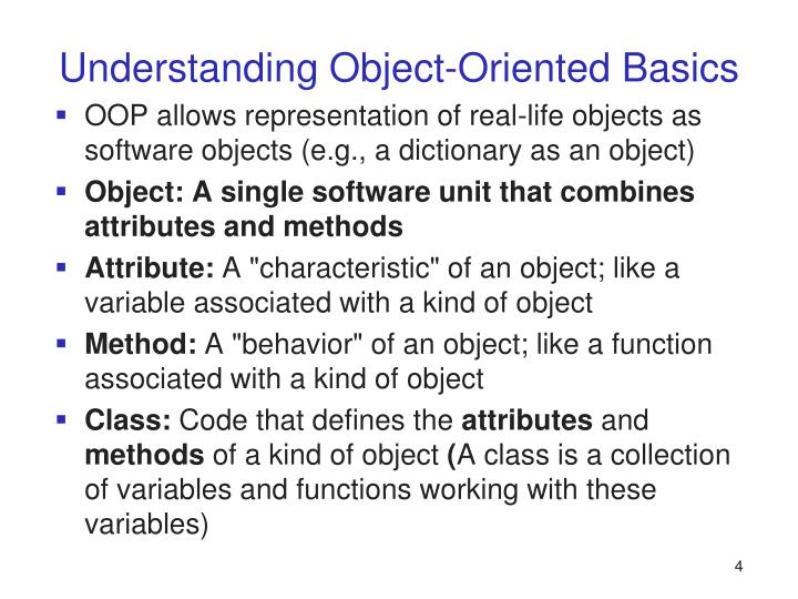 Understanding Object-Oriented Basics