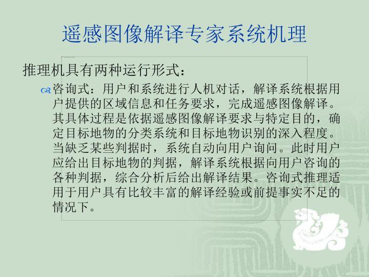 遥感图像解译专家系统机理