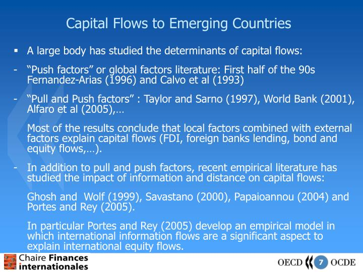 Capital Flows to Emerging Countries
