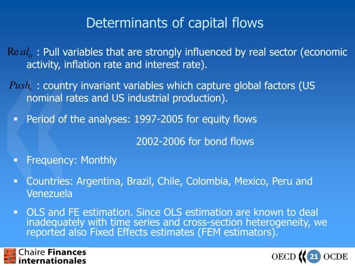 Determinants of capital flows