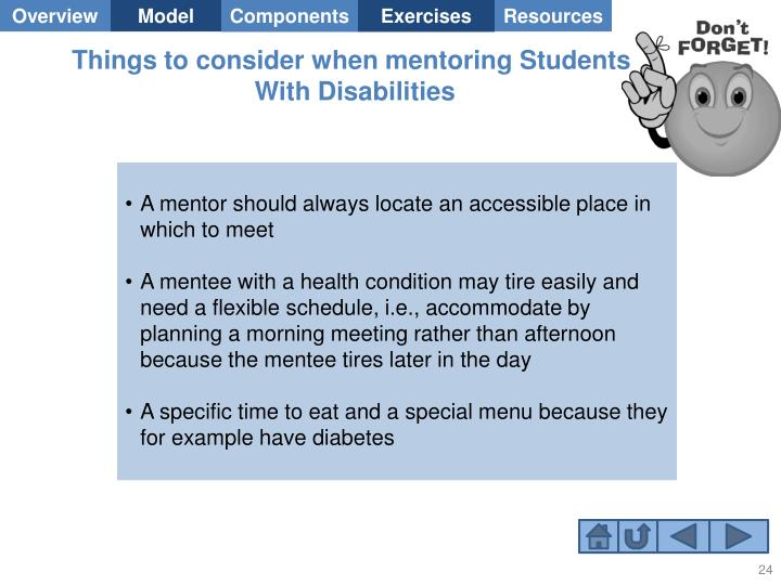 Things to consider when mentoring Students