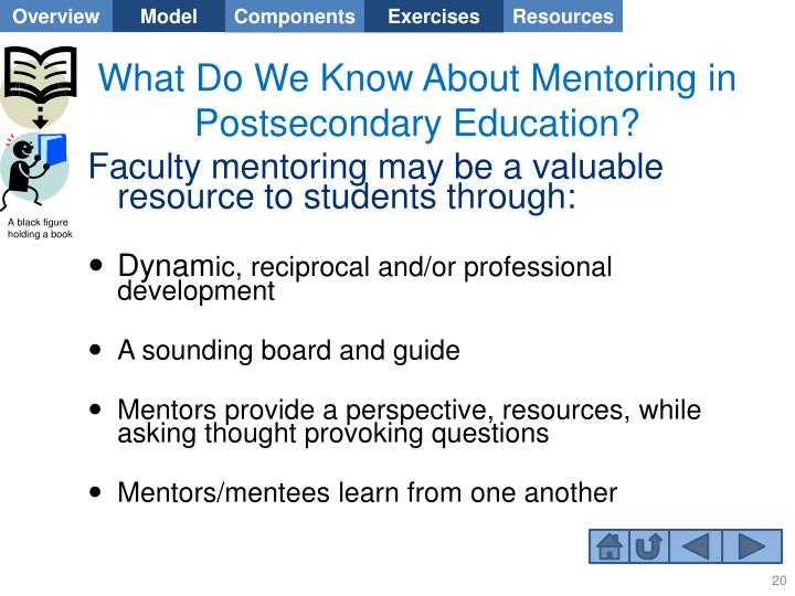 What Do We Know About Mentoring in Postsecondary Education?