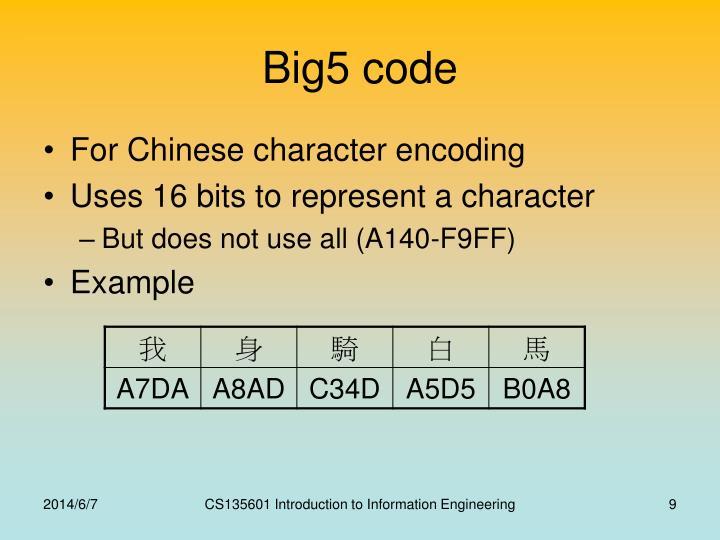 Big5 code