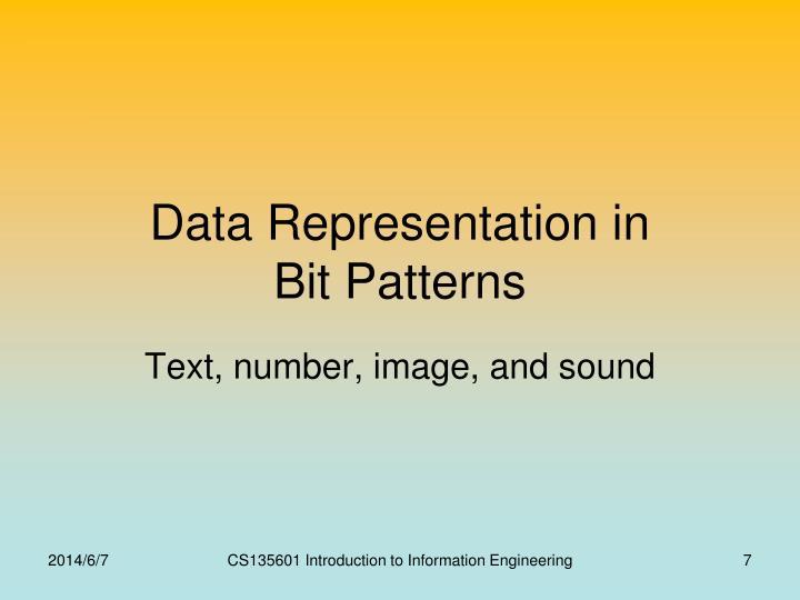 Data Representation in
