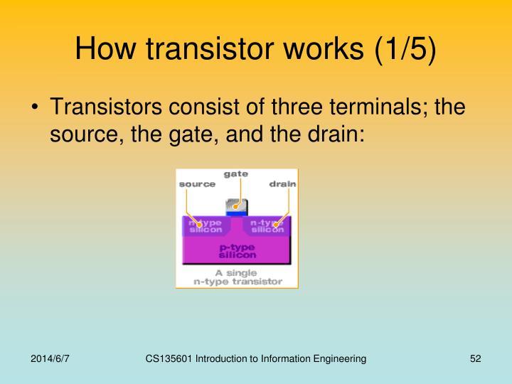 How transistor works (1/5)