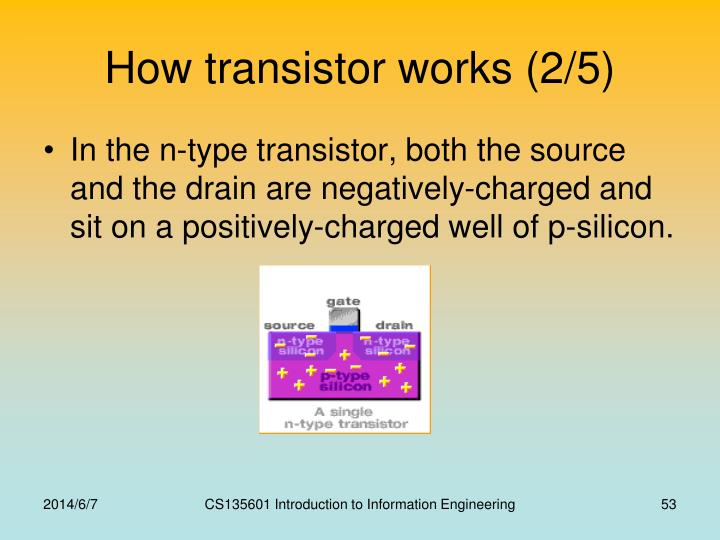 How transistor works (2/5)