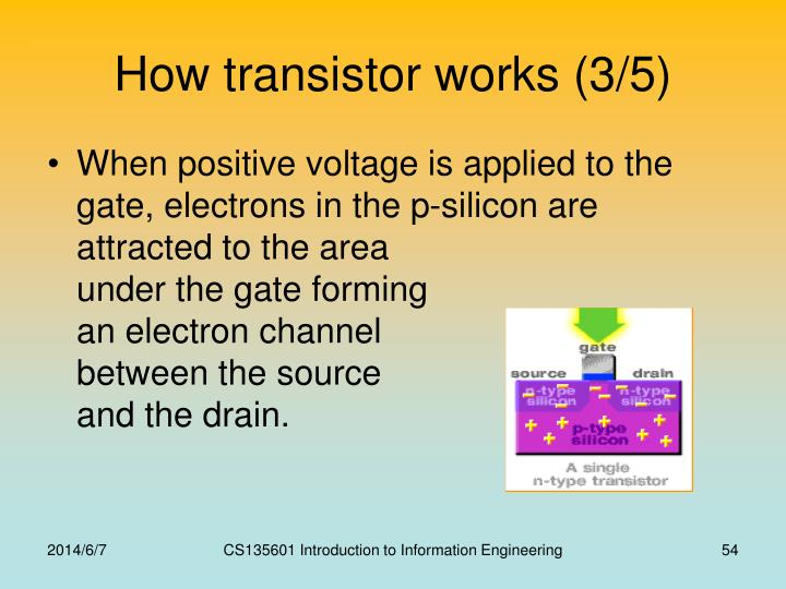 How transistor works (3/5)